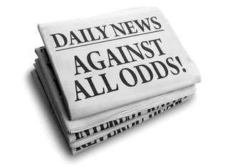 Printed newspapers Daily News, with headline