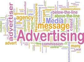 Advertising, media, message, word cloud