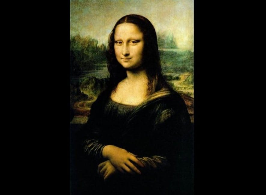 Photo of the Mona Lisa art work