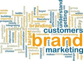 Brands and branding word cloud