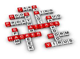 Abstract puzzle of important online security words