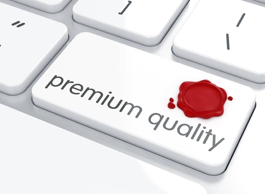 Abstract PC keyboard key called premium quality