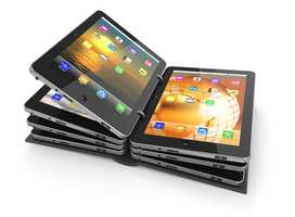 Multiple tablet devices each as a page in an ebook