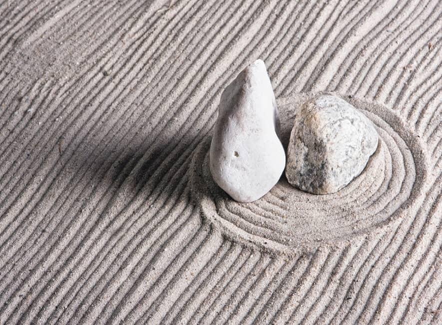 zen-stones-on-japanese-style-sand-garden
