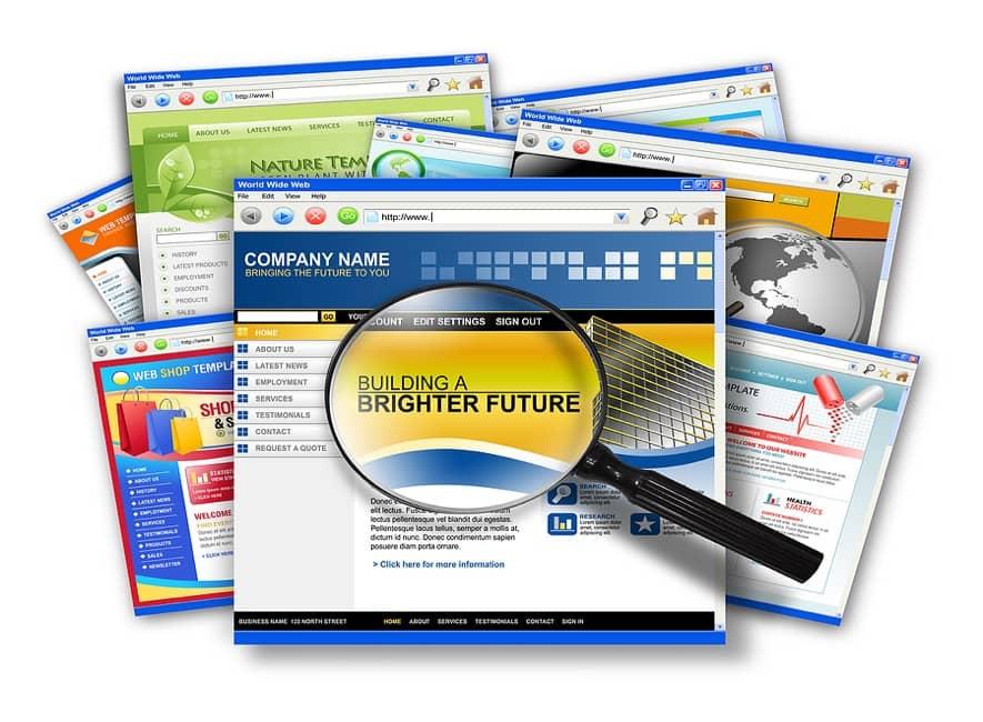 A collection of website design screenshots