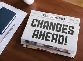 Changes ahead newspaper headline