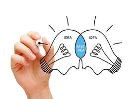 Two lightbulb ideas combine to form the best idea